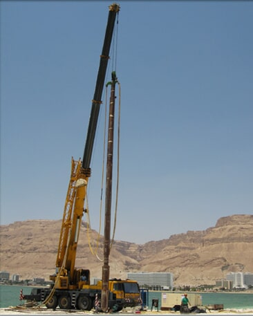 Drilling in the Dead sea